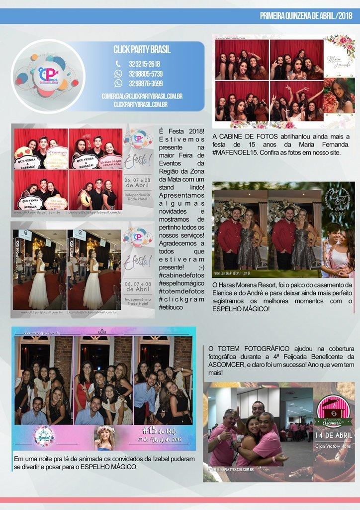 Eventos que foram destaques na primeira quinzena de Abril/2018